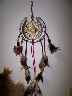 Real horseshoe dreamcatcher. $10.00 contact pso4112000@yahoo.com