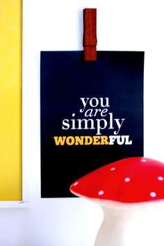 YOU ARE SIMPLY WONDERFUL AV SARAH & BENDRIX