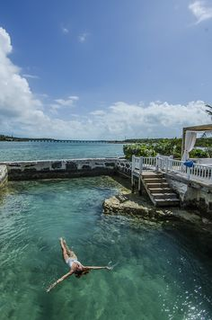 Floating in the natural ocean pool at Turquoise Cay hotel in #Exumas #Bahamas. See my review of the hotel here -> http://wp.me/p2gD53-1TF