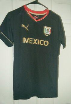 965f40cd2b8 Mexico National Soccer Football Team Puma Black Jersey Boys Large Used  #Puma #Mexico