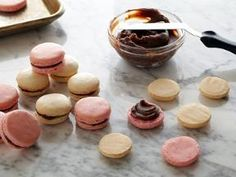 Chocolate filled almond macarons