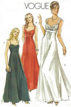 Vogue Sewing Pattern V8360 Womens Evening Gown Prom by CloesCloset