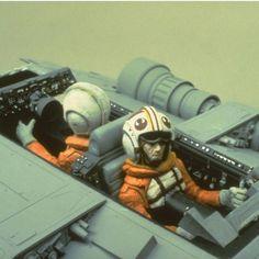 Snowspeeder model pilots