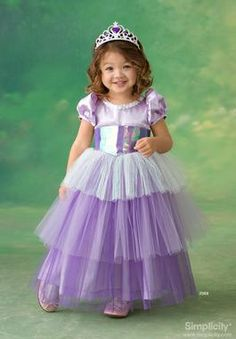 Toddler & child princess Costume Sewing Pattern 2569 Simplicity
