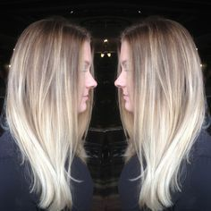 blonde stretched roots - Google Search