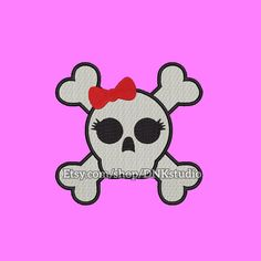 Cute Girly Skull Embroidery Design  This design manually made by hand, from start to finish. It is a digitized embroidery design for a buyer who has an embroidery sewing machine.  https://www.etsy.com/listing/486540758/cute-girly-skull-embroidery-design-5  #stitch #digitized #Sewing #Needlecraft #stitches #Embroidery#Applique #EmbroideryDesign #pattern #MachineEmbroidery #cute #girl #girly #skull