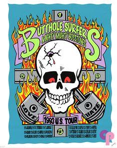 Butthole Surfers at 1993 U.S. Tour 11/16-12/17/93 by Frank Kozik
