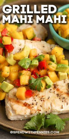 Seafood Recipes, Mexican Food Recipes, Cooking Recipes, Healthy Recipes, Healthy Foods, Great Recipes, Dinner Recipes, Favorite Recipes, Grilled Mahi Mahi
