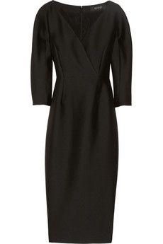 Gucci little black dress - wool and silk-blend radzimir dress | NET-A-PORTER