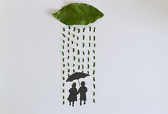 Whimsical Slices of Life Made with Leaves and Illustrations - My Modern Metropolis