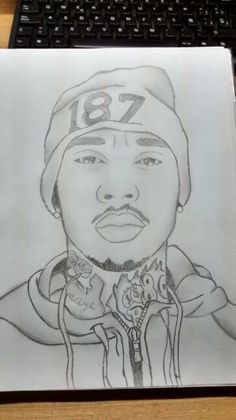 Tyga #draw #drawing #tyga #black&yellow #pencil #draws