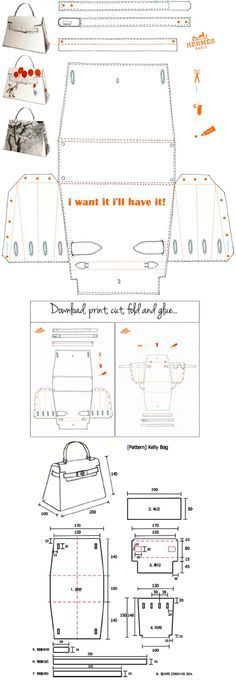 Hermès Kelly Bag Origami Paper Craft - I want it, I'll have it!file- Hermès Kelly Bag Origami Paper Craft – Ich will es, ich werde es haben!file Hermès Kelly Bag Origami Paper Craft – I want it, I … - Hermes Kelly Bag, Hermes Kelly Taschen, Hermes Box, Sacs Tote Bags, Paper Purse, Paper Bags, Leather Bag Pattern, Leather Bag Tutorial, Leather Clutch