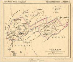 Duizel, Steensel, Plattegrond van de gemeente Duizel en Steensel. Suringar, H.; Kuyper, Jacob 1869