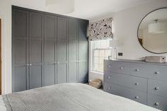 Small Bedroom Wardrobe, Attic Master Bedroom, Gray Bedroom, Bedroom Loft, Trendy Bedroom, Home Bedroom, Master Closet, Fitted Bedroom Furniture, Basement Bedrooms