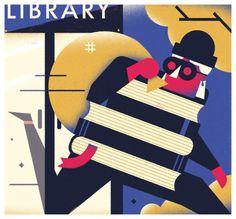 Librón: ladrón de libros (ilustración de Dale Edwin Murray)