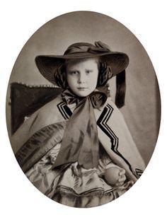 Princess Lovisa of Sweden, later queen of Denmark. 1850s.