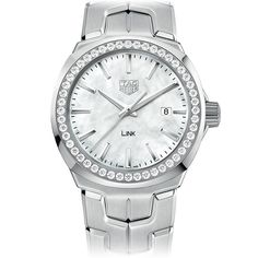 TAG Heuer LINK White & Grey MOP Dial Diamond Bezel 32 mm