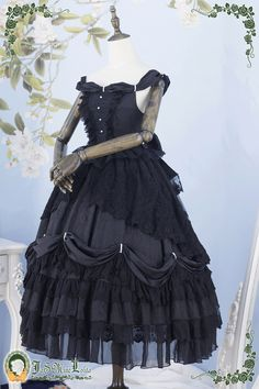 Roses and The Mermaid's Tears Lolita Jumper Dress