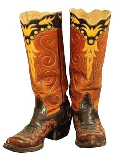 Pair of  Custom Cowboy Boots