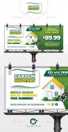Garden Landscape Billboard Template PSD, InDesign INDD. Download here: https://graphicriver.net/item/garden-landscape-billboard-templates/17136751?ref=ksioks