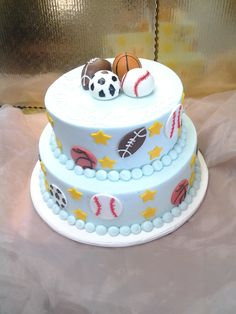 An Adorable Sports Themed Baby Shower Cake!