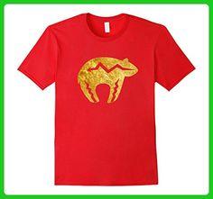 Mens Faux Gold Bear Southwestern Petroglyph Native Art T-Shirt 3XL Red - Animal shirts (*Amazon Partner-Link)