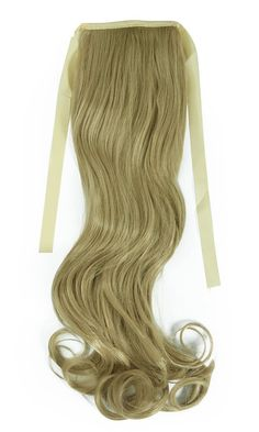 S-noilite Fashion 18'(55cm) Curly Ash Blonde Binding Tie up Ponytail Clip in Hair Extensions One Piece Wrap Around Pony Tail Long Quality Synthetic Reliable * Insider's special review you can't miss. Read more  : Hair Loss