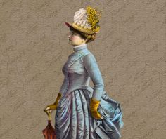 Vintage Digital Graphics Instant Download Victorian Lady Art Illustration         March 06, 2014 at 07:58PM