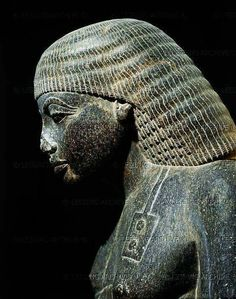 Egyptian sculpture, BC bust of Amenhotep BC), Son of Hapu, scribe and sage of the time of Amenhotep III BCE). Black granite figure from Karnak, Egypt. New Kingdom dynasty). Height: 130 cm See also He was. Ancient Egyptian Art, Ancient History, Art History, Kemet Egypt, Amenhotep Iii, Egypt Art, Ancient Artifacts, African History, Gods And Goddesses