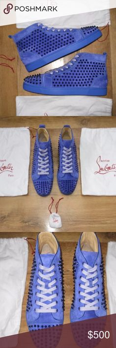 Christian Louboutin Brand new Blue Christian Louboutin's 100% authentic. For more information contact me at (860) 362-1184 Christian Louboutin Shoes Sneakers