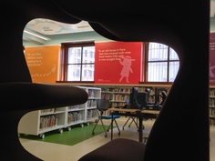 The Childrens Library sports furniture to climb into with a favorite book. *St Louis Central Library