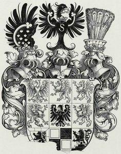 Wappen des Herzogs Albrecht von Preußen / Coat of Arms of The Duke Albrecht of Prussia / Armas del Duque Albrecht de Prusia