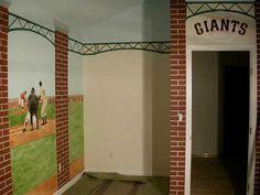 Giants baseball room!