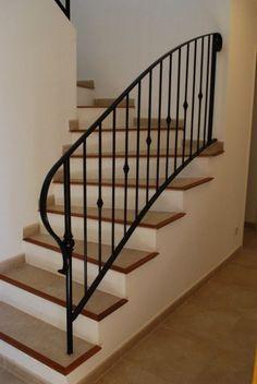 rampe et garde corps adapt sur escalier bois home decor. Black Bedroom Furniture Sets. Home Design Ideas