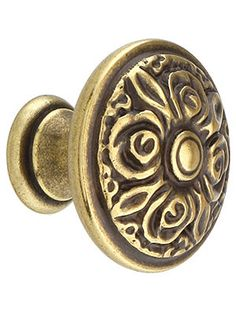House of Antique Hardware:  Antique Cabinet Hardware. Rose Design Cabinet Knob With Choice Of Finish