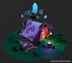 ArtStation - Traveling Magic Shop, Julian Vermeulen