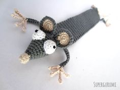 Amigurumi Book Rat