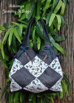 Bag+jeans+e+pizzo+cadì+di+Alkimya+Bags&Jewelry+su+DaWanda.com