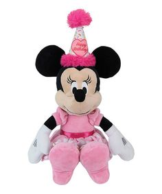 Disney Birthday Minnie Mouse Plush Toy #zulily #zulilyfinds