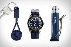 Oris Divers Sixty-Five Watch ($1,990). Native Union KEY Cable ($24). Opinel Trekking Folding Knife ($15). Presented by Oris....