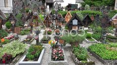 4k Beautiful cemetery graves at Hallstatt catholic church - Stock Footage | by Beckhusen