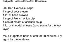 Bobbi's Breakfast Casserole