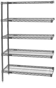 This laboratory wire shelving add-on has a durable chrome finish and features two posts and five open-wire shelves. Shelving Racks, Wire Shelving, Shelves, Lab Supplies, A5, Chrome, Eagle, The Unit, Stability