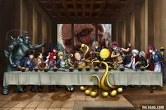 Anime Crossover - Fullmetal Alchemist / Shingeki no Kyojin / Fairy Tail / Kill la Kill / Fate/Stay Night / One Punch Man / Assassination Classroom / Gintama / Tokyo Ghoul / Shokugeki no Souma---> = EPIC CROSSOVER! Manga Anime, Fanarts Anime, Otaku Anime, Anime Meme, Anime Art, Roy Mustang, Anime Crossover, Fullmetal Alchemist, Manga Shop