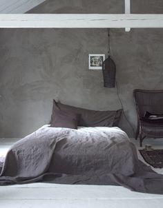 Industrial Bedroom Design In Grey