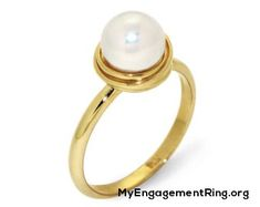 cute white pearl engagement ring - My Engagement Ring