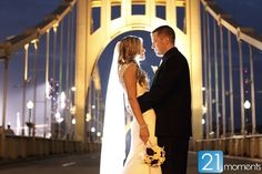 A breathtaking nighttime photo at the Clemente Bridge.