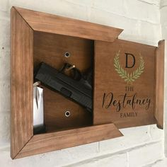 Family - Hidden Storage Box - Hidden Gun Storage - Gun Storage - Last Name Gift . Family - Hidden Storage Box - Hidden Gun Storage - Gun Storage - Last Name Gift - Fathers Day Gift - Hidden Gun Storage, Secret Storage, Hidden Gun Safe, Hidden Closet, Ammo Storage, Camping Storage, Diy Wood Projects, Home Projects, Lathe Projects