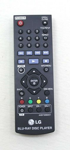 LG Remote Model AKB73896401 For Blu-Ray Disc Player #LG Remote, Store, Model, Ebay, Storage, Scale Model, Models, Shop