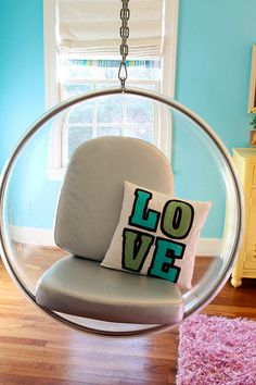 LOVE hanging chair! via Lucy and Co